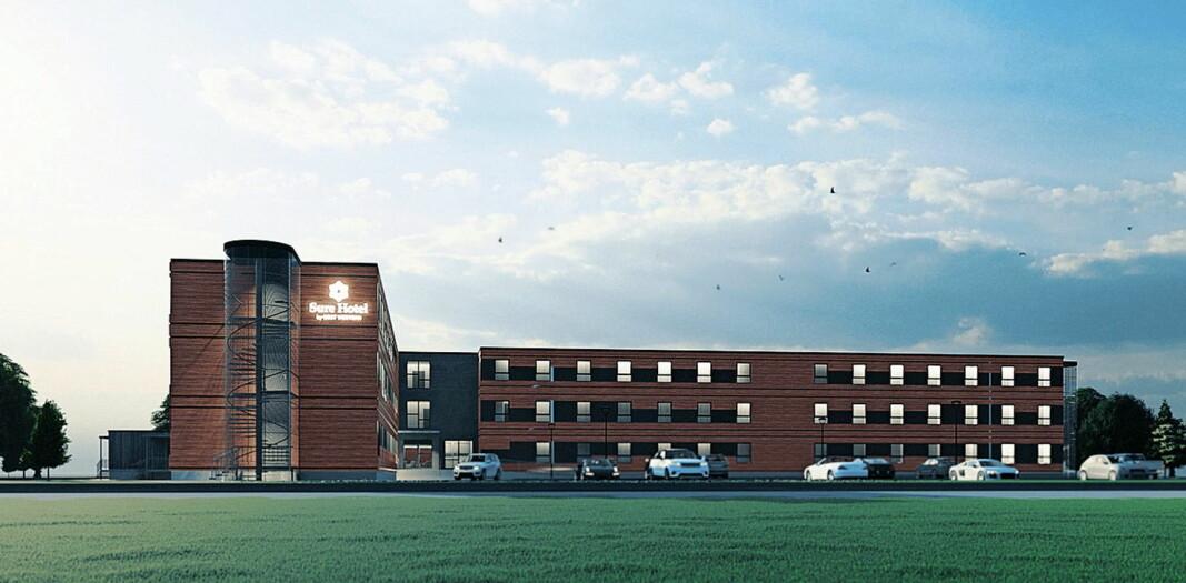 Nytt Best Western-hotell åpnes i Stjørdal i 2o21. (Illustrasjon. Best Western)