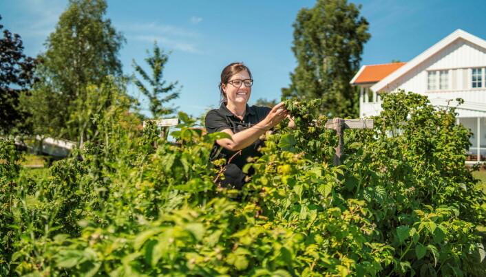 Finalist Astrid Lier Lømuld, daglig leder i Askim frukt- og bærpresseri. (Foto: Michael Johnsen)