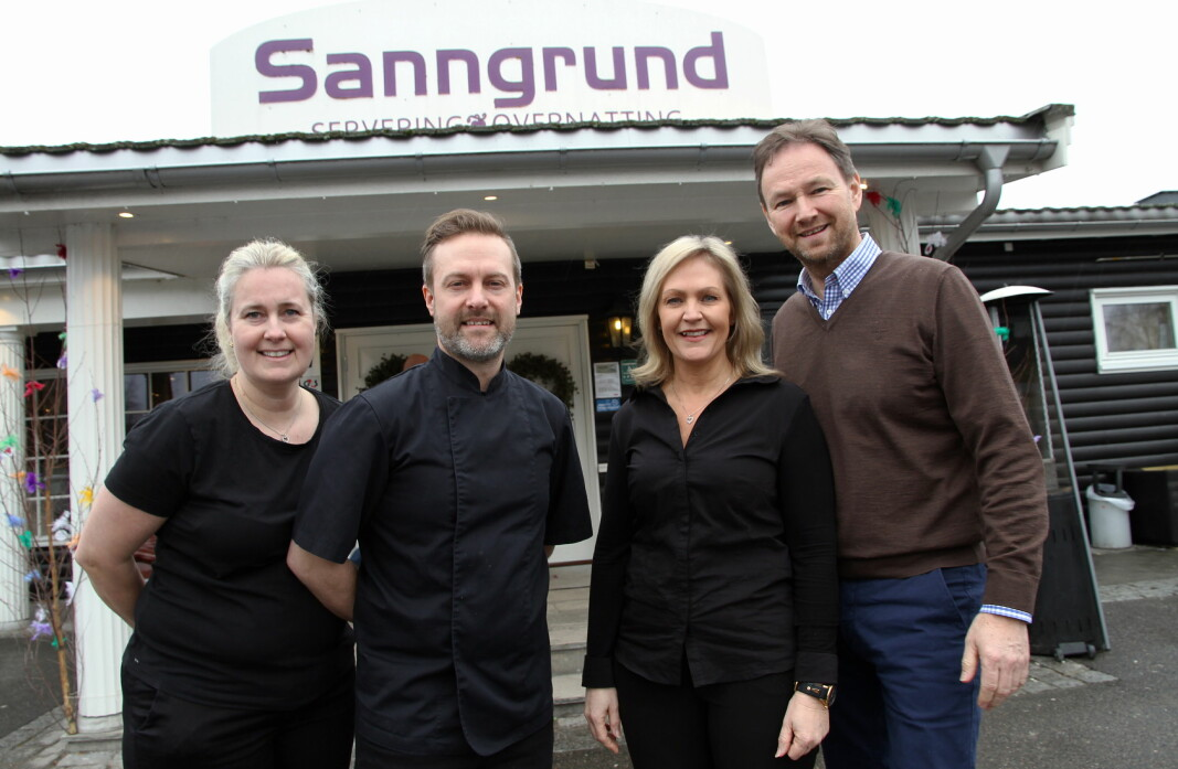 Dette er teamet bak Sanngrund. Fra venstre Beate Ferger, Freddy Ferger, Betty Udnesseter og Arne Udnesseter. (Foto: Morten Holt)
