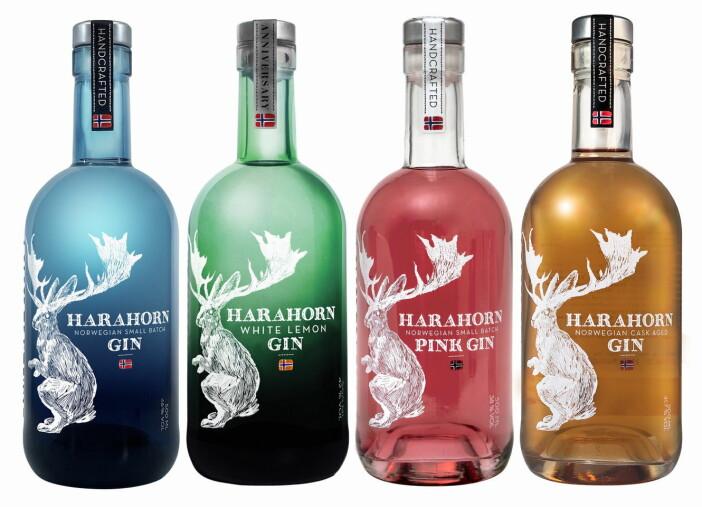 Fem år med Harahorn Gin. (Foto: Det Norske Brenneri)