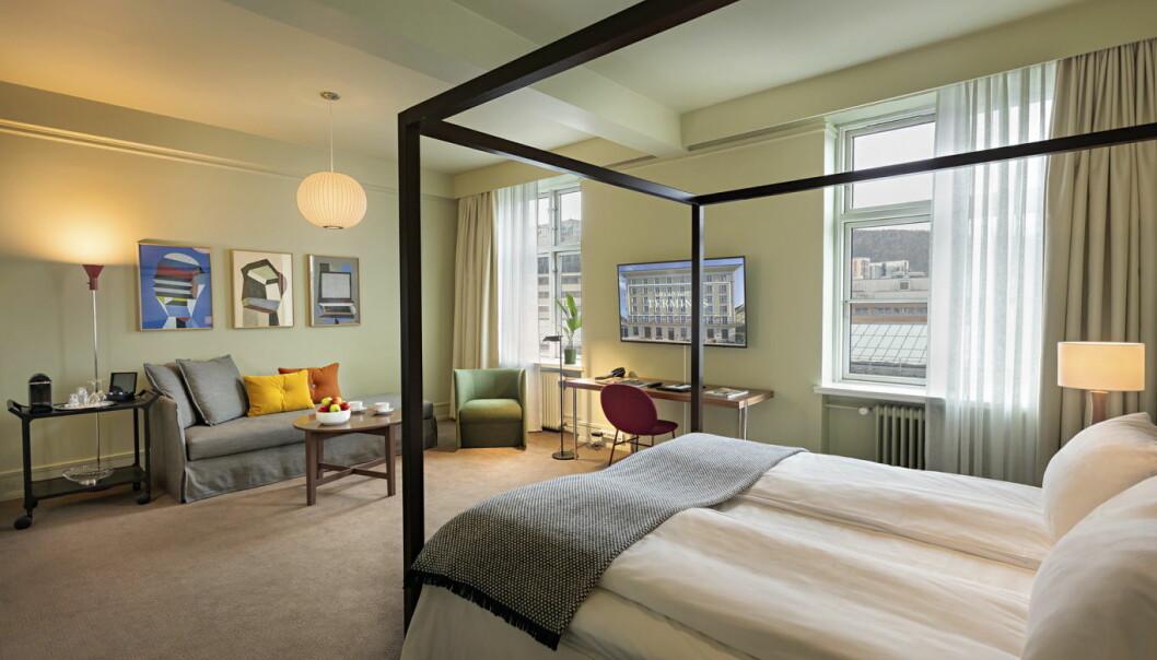 Rom på Grand Hotel Terminus i Bergen. (Foto: Grand Hotel Terminus)