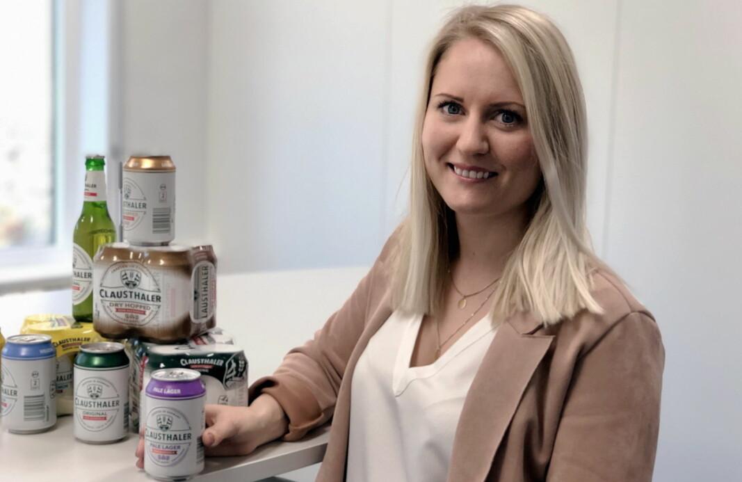 Merkevaresjef for Clausthaler i Hansa Borg Bryggerier, Lise-Katrine Larsen. (Foto: Hansa Borg Bryggerier)