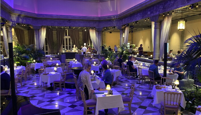Frokost i Palmehaven på Britannia Hotel. (Foto: Morten Holt)