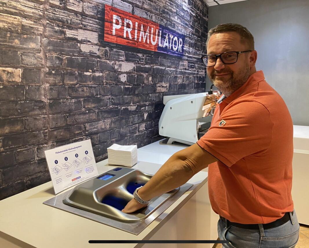 Primulator lanserer en helautomatisk håndvaskeautomat i Norge. (Foto: Primulator)