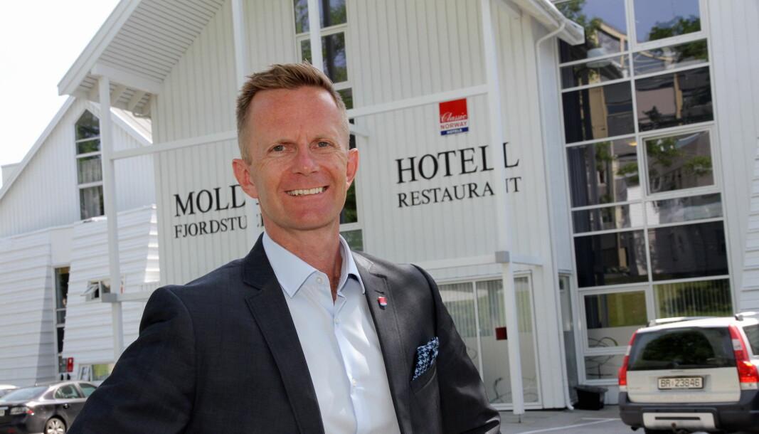 Stephen Meinich-Bache er administrerende direktør i Classic Norway Hotels. (Foto: Morten Holt)