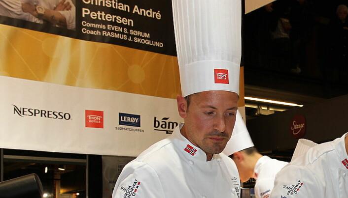 Sebastian Myhre er ny kaptein for det norske kokkelandslaget. (Foto: Heidi Fjelland)
