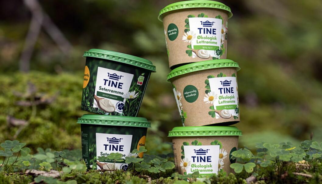 Tine ruller ut en fullskala test av nytt og forbedret pappbeger i butikker i hele Norge. (Foto: Tine)