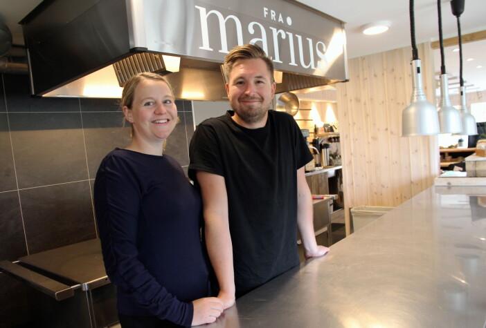 – Vi ønsker at stedet vårt skal være en matdestinasjon, sier Marius Martinsen. (Foto: Morten Holt)