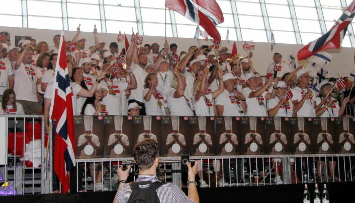Det blir ingen norske fans på tribunen i Tallinn. (Foto: Morten Holt)