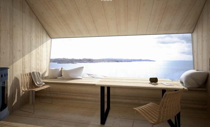 Ikke noe å si på utsikten fra hyttene. (Foto: Holon Arkitektur)