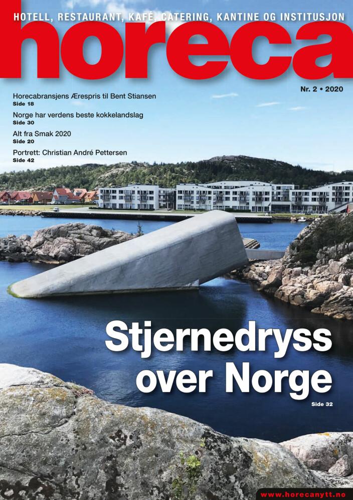 Forsiden på den andre Horeca-utgaven i år. (Foto: Morten Holt/layout: Tove Sissel Larsgård)