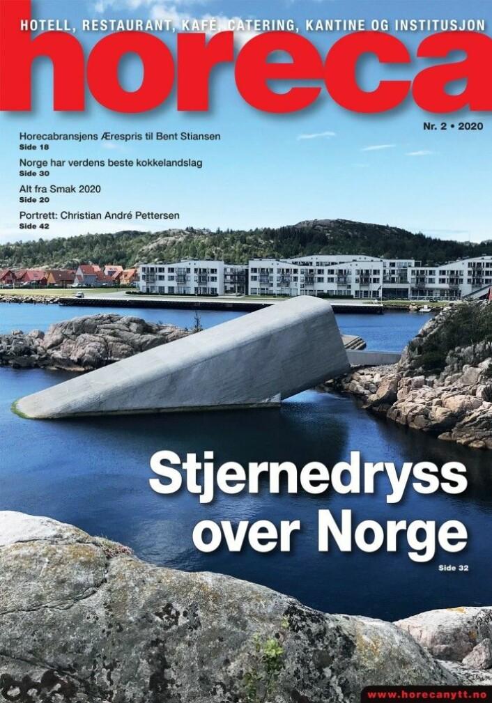 Forsiden på Horeca nummer 2 2020. (Foto: Morten Holt/layout: Tove Sissel Larsgård)