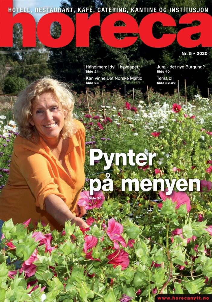Forsiden på Horeca nummer 5 2020. (Foto: Heidi Fjelland/layout: Tove Sissel Larsgård)