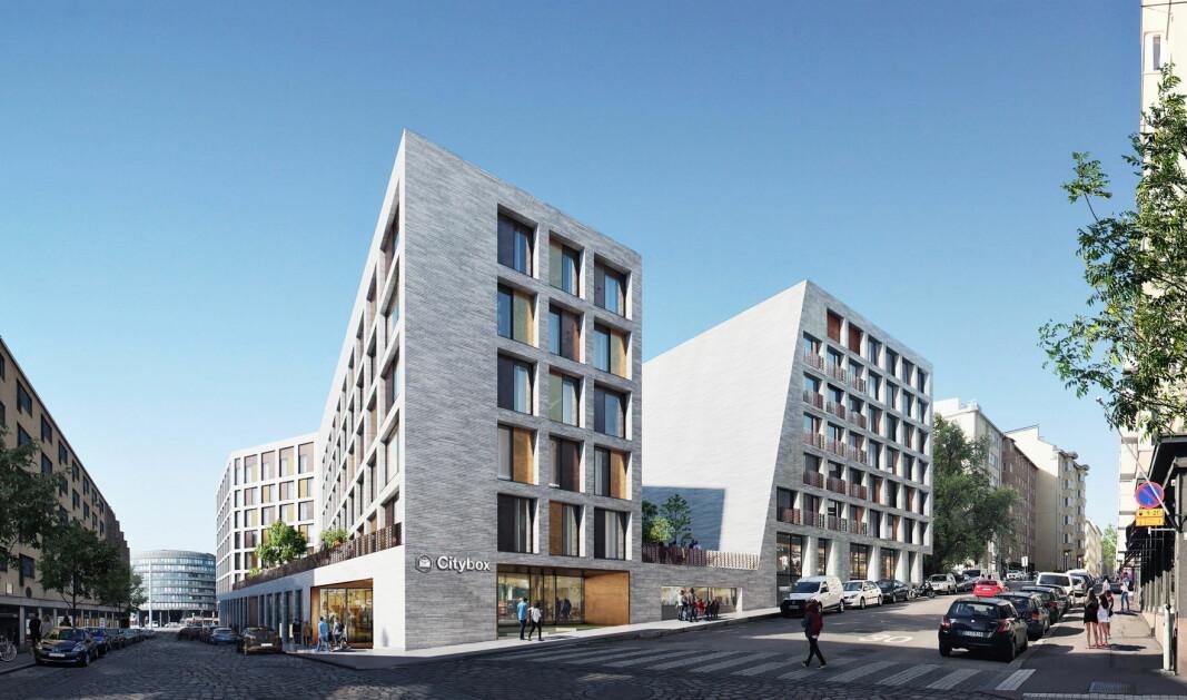 Slik blir Citybox Helsinki. (Illustrasjon: Ylva /Cederqvist & Jäntti Architects)