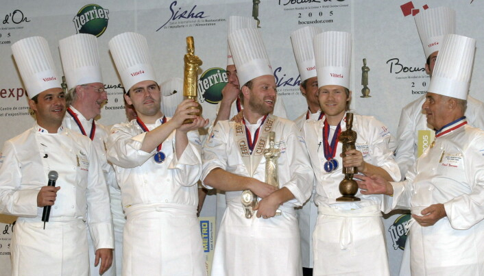Tom Victor Gausdal, som nå er president og Norges dommer, endte på sølvplass i Bocuse d'Or i 2005 - to poeng bak vinneren. (Foto: Arkiv)