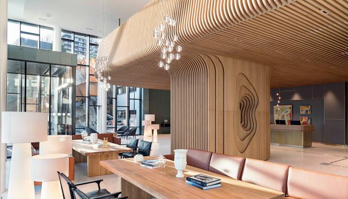Radisson Blu Atlantic Hotel har gjennomgått en omfattende totalrenovering. Her fra lobbyen. (Foto: Radisson Blu Atlantic Hotel/Lisa Løwenborg)