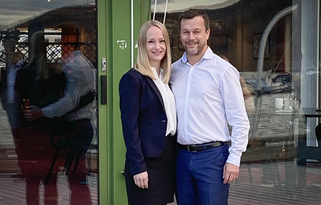 Christine Løksti og Henry Hansen tar over som vertskap på Rognan Hotell. (Foto: Rognan Hotell/Pressefoto)