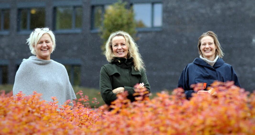 Inviterer til Vintersmak i Stavanger. Fra venstre Anita Løyning (NKL Rogaland, Lærlingekompaniet), Kristin Austigard (Det Norske Måltid) og Maren Skjelde (Gladmat)- (Foto: Det Norske Måltid)