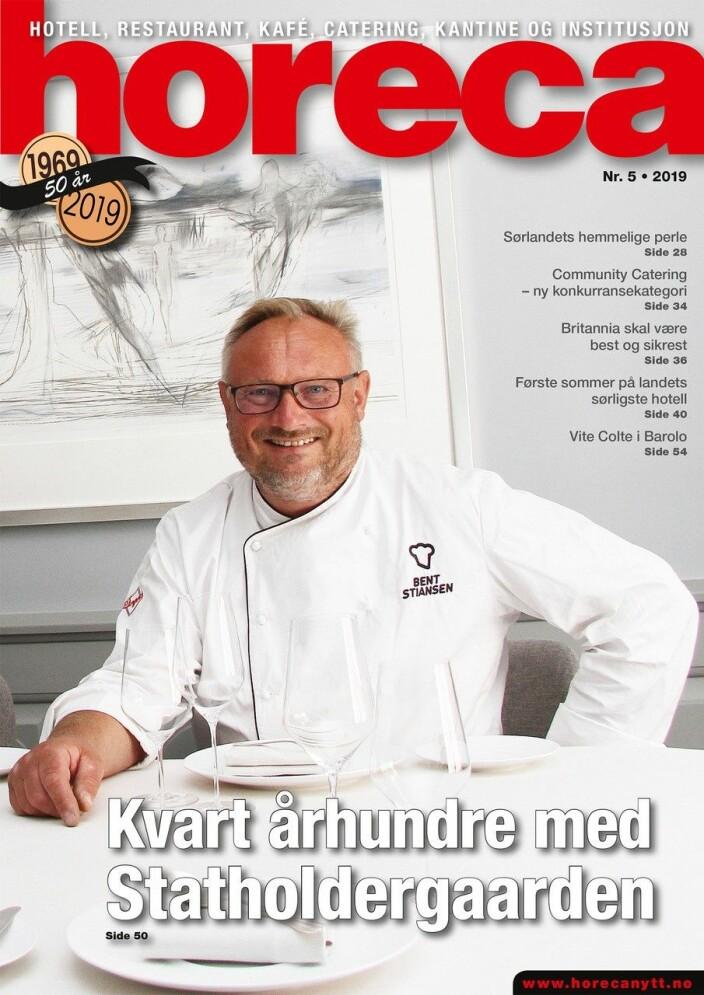 Omslaget på den femte utgaven av magasinet Horeca i 2019. (Foto: Morten Holt/layout: Tove Sissel Larsgård)