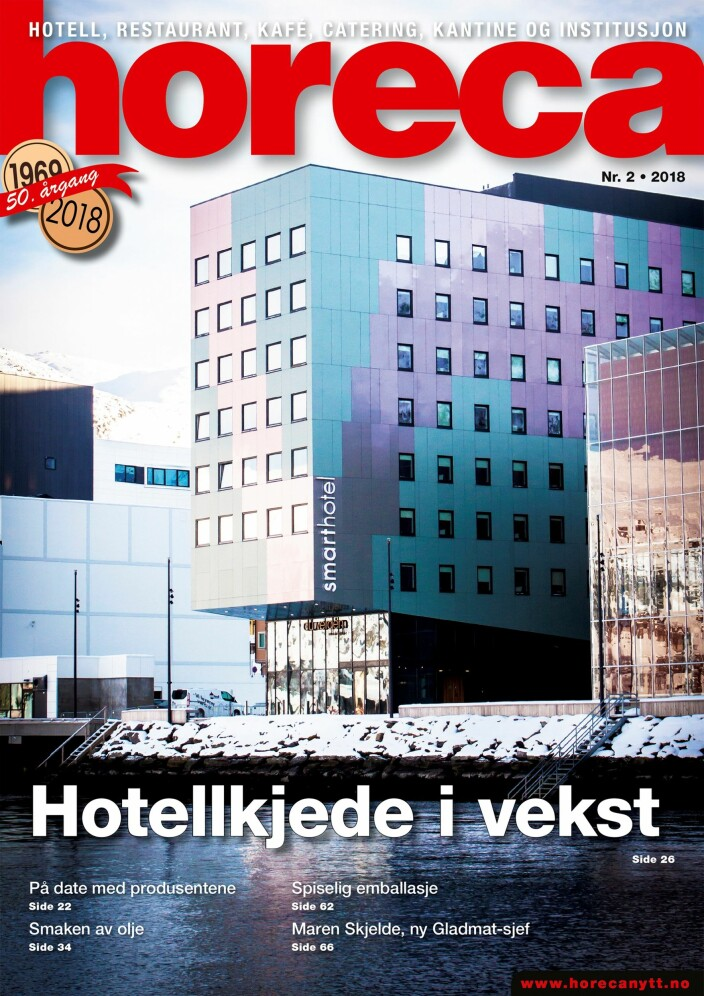 Omslaget på Horecas andre utgave i 2018. (Foto: Håkon Berntsen/layout: Tove Sissel Larsgård)