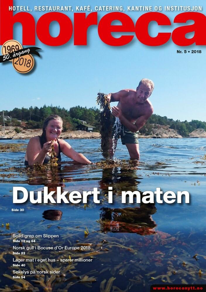 Horeca nummer 5 2018. (Foto: Heidi Fjelland/layout: Tove Sissel Larsgård)