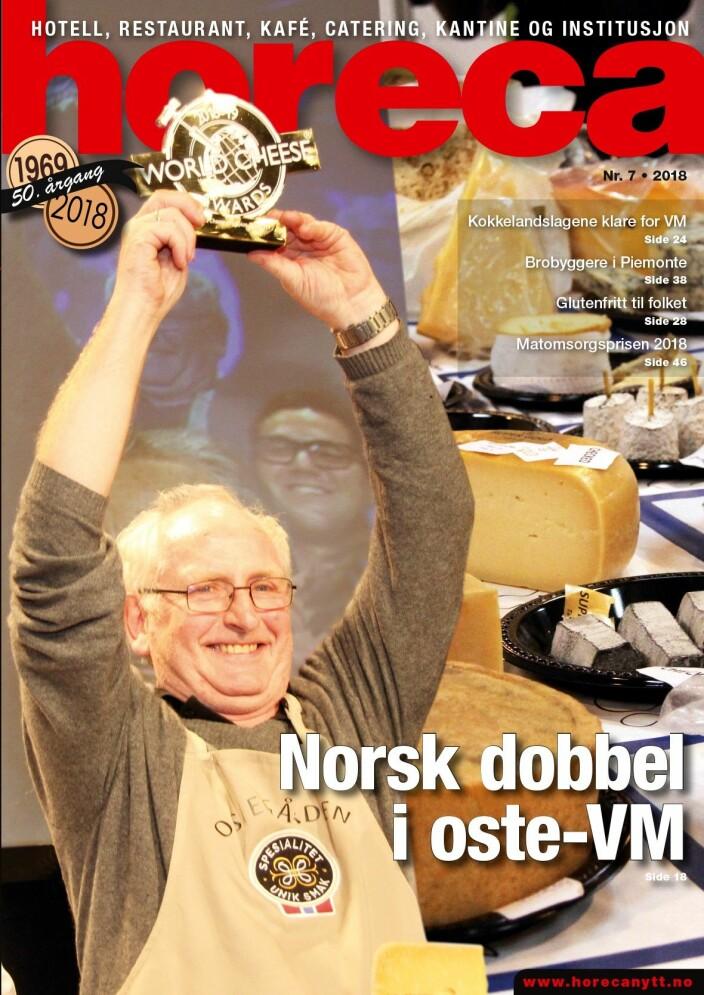 Forsiden på Horeca nummer 7 2018, som har utgivelse i slutten av november. (Foto: Morten Holt/layout: Tove Sissel Larsgård)