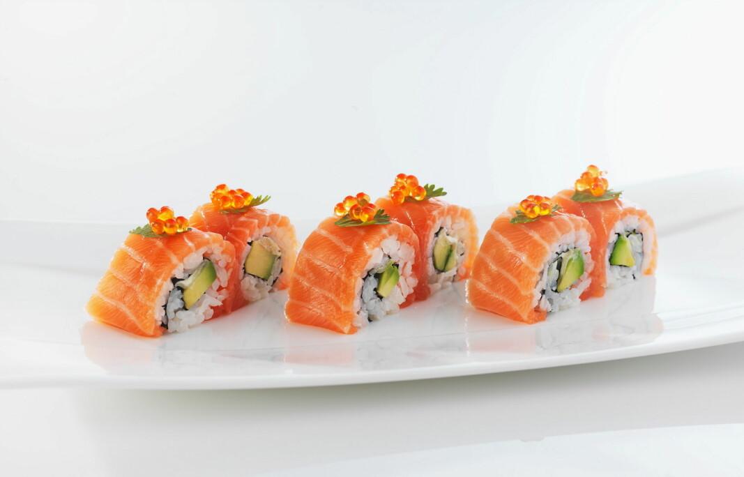 Norsk silderogn brukes som topping på sushi. (Foto: Tom Haga/Norges sjømatråd)