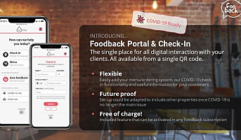Lanserer «Foodback Portal & Check-In»