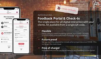 Lanserer «Foodback Portal & Check-In»