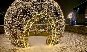 Beitostølen pyntes til jul