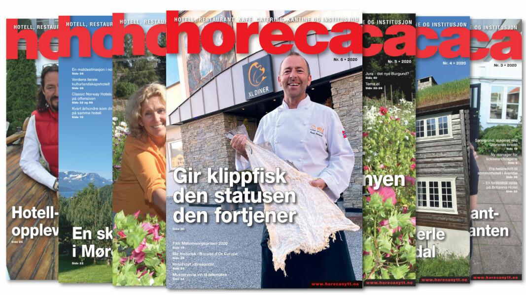 Forsiden på Horecas sjette utgave i 2020. (Foto: Morten Holt/layout: Tove Sissel Larsgård)