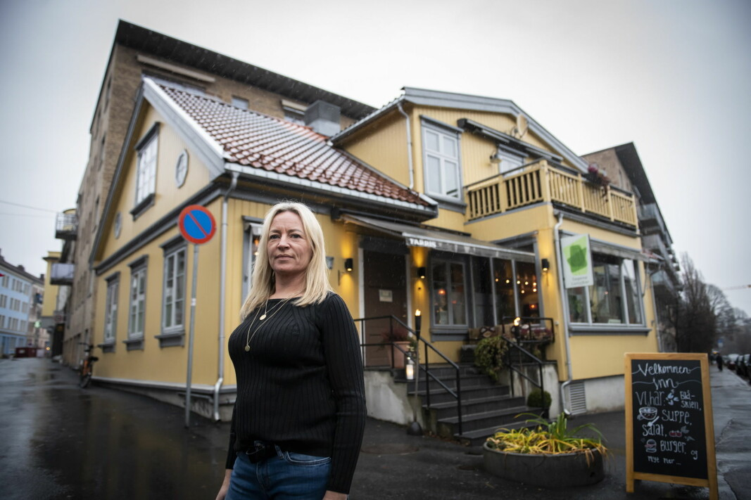 Daglig leder for Sagene Lunsjbar, Gro Worren. (Foto: Katrine Lunke/Apeland)