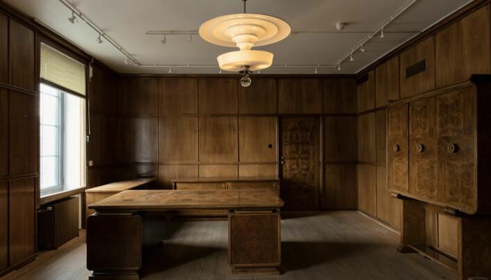 Det gamle direktørkontoret bli suite. (Foto: Lars Petter Pettersen)