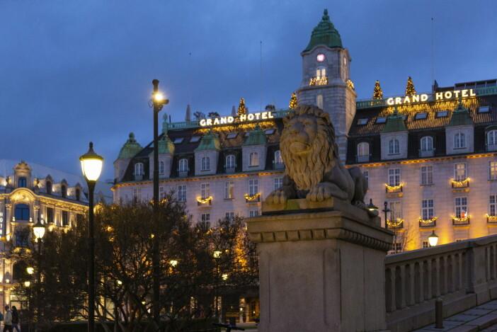 Julepyntet Grand Hotel. (Foto: Didrick Stenersen/VisitOslo)