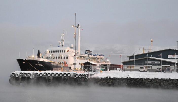 MS Lofoten i Kirkenes. (Foto: Eivind Lande/Hurtigruten)