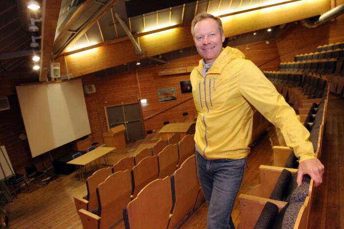 Det er også en stor aula til disposisjon i Vikingskipet. (Foto: Morten Holt)