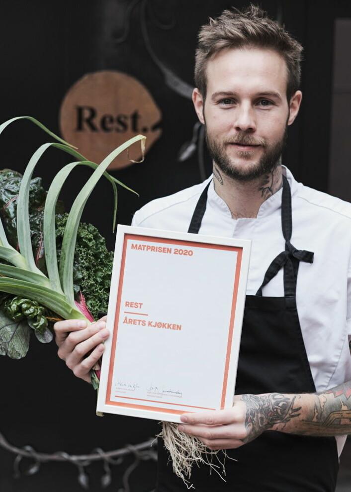 Rest, med Jimmy Øien i spissen, fikk prisen for årets kjøkken. (Foto: Per Sollerman)