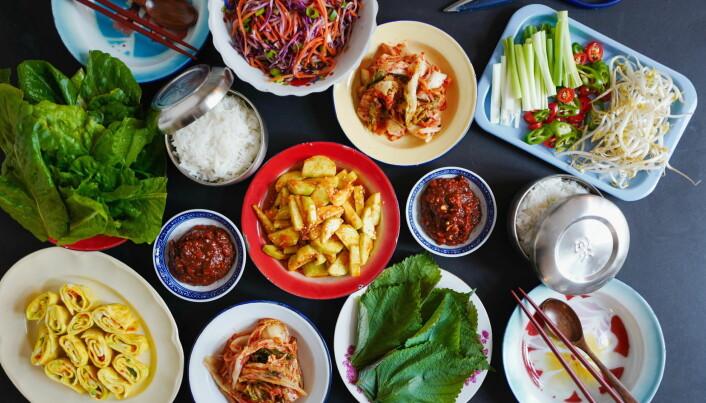 Tilbehøret er viktig i det koreanske kjøkken.