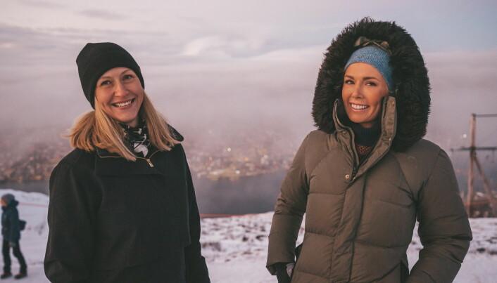 Administrerende direktør i Norges sjømatråd, Renate Larsen (til venstre), og EATs grunnlegger og arbeidende styreleder Gunhild Stordalen. (Foto: Norges sjømatråd/David Jensen, Jensenmedia)