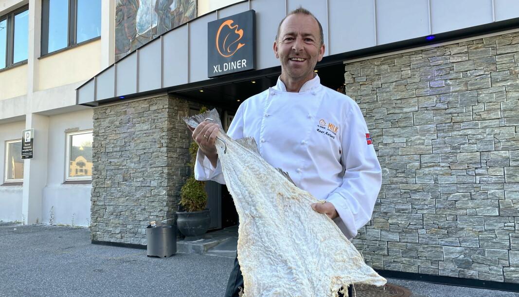 Roar Aarseth er kjøkkensjef på XL Diner i Ålesund. (Foto: Morten Holt)