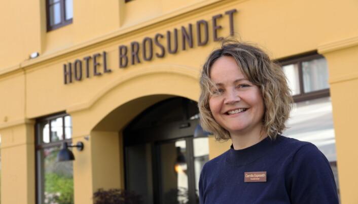 Camilla Espeseth er hotelldirektør på Hotel Brosundet. (Foto: Morten Holt)