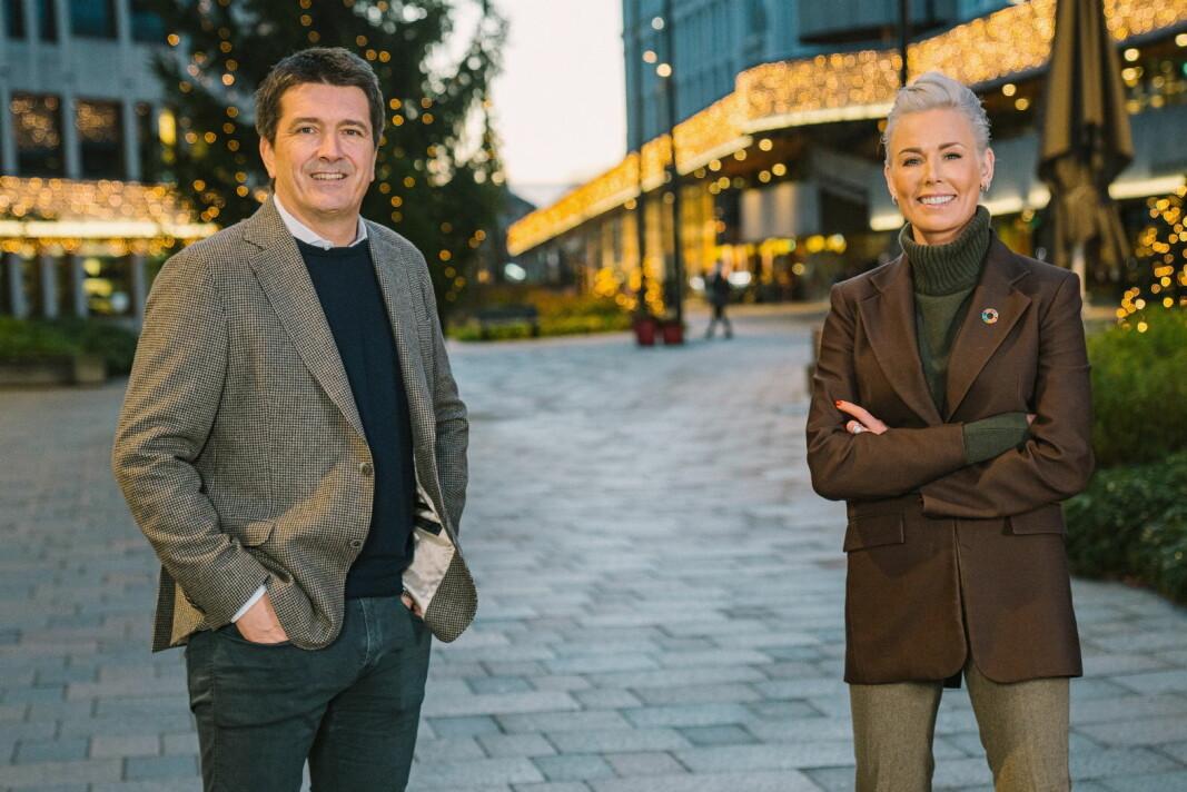 Ole Robert Reitan og Gunhild Stordalen. (Foto: Reitangruppen)