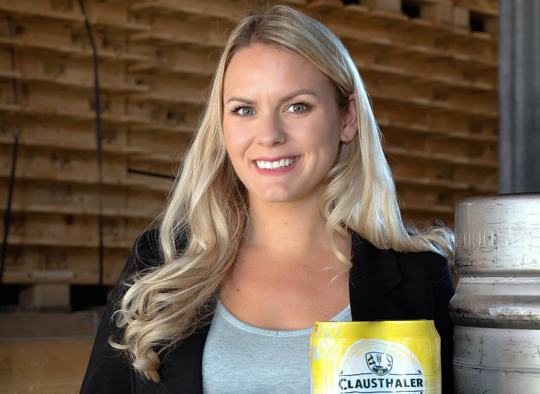 Henriette Berland, merkevaresjef Clausthaler hos Hansa Borg Bryggerier. (Foto: Hansa Borg Bryggerier)