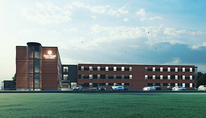 Sure Hotel by Best Western Trondheim Airport åpner mai 2021. (Illustrasjon: BWH Hotel Group)