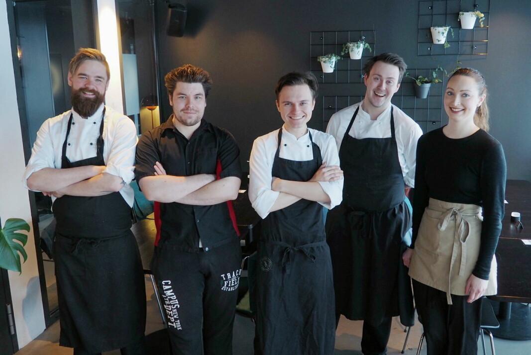 Gjengen som lager glutenfri mat og kaker Fugl Føniks. (Foto: Ingrid Foldal)