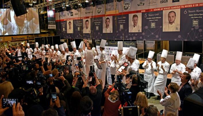 Fra den første utgaven av Årets unge kokk. (Foto: Stiftelsen Norsk Gastronomi)