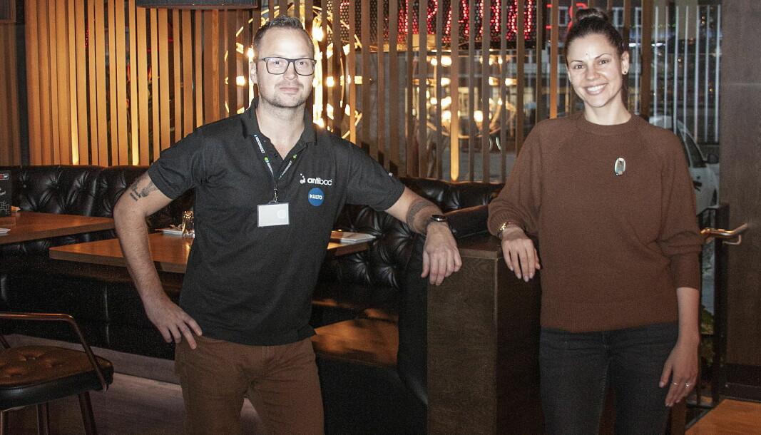 Brasilia-restaurantsjef-Roberta Giedrikaité og KAM hos Kiilto, Hans Erik Jacobsen. (Foto: Kiilto)