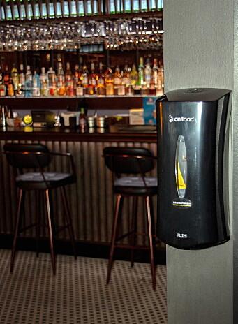 Hygienestasjon på Brasilia restaurant i Oslo. (Foto: Killto)