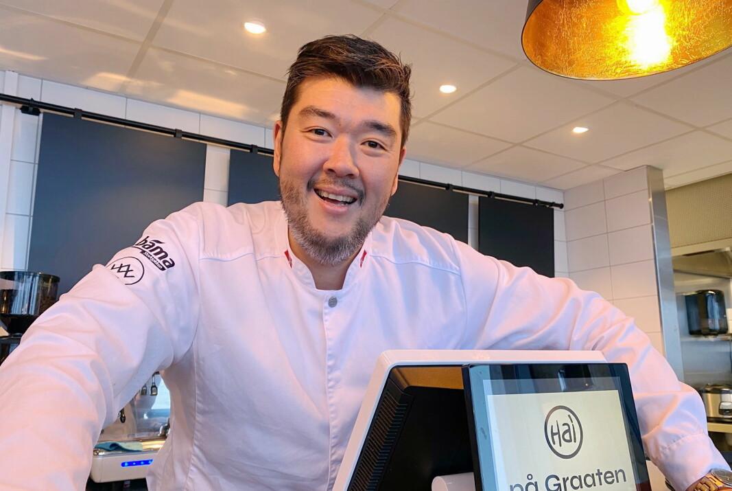 Hai på Graaten har fått en mottakelse Hai Hang knapt trodde var mulig. Mat i så vel restauranten som via hytte- og selskapskasser er blitt en suksess på Sjusjøen. (Foto: Even Rise)