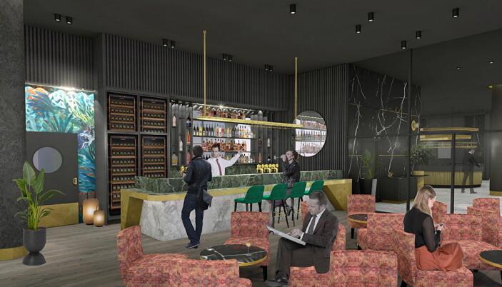 Thon Hotel Svolvær har to barer og mange sosiale soner. (Foto/Illustrasjon: Thon Hotels)